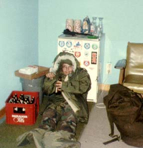 This is me during my drinking days in the Army